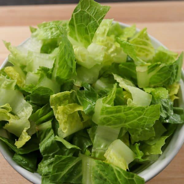Bowl of Romaine Lettuce