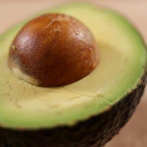 close up of an avocado