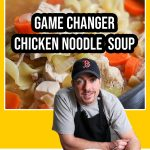 chicken noodle soup in a bowl with Bob