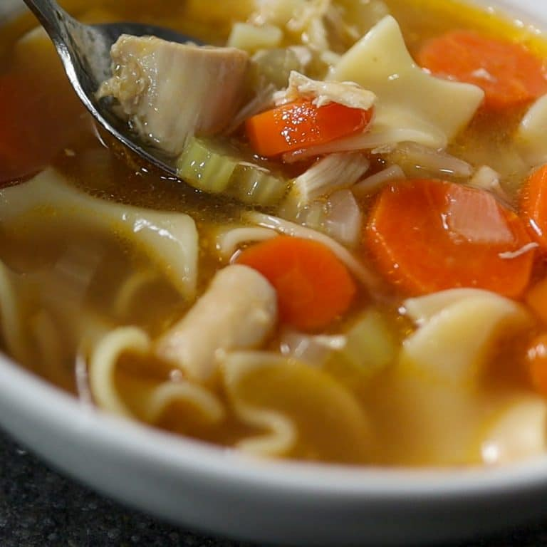 Chicken Noodle Soup From Scratch With A Whole Chicken