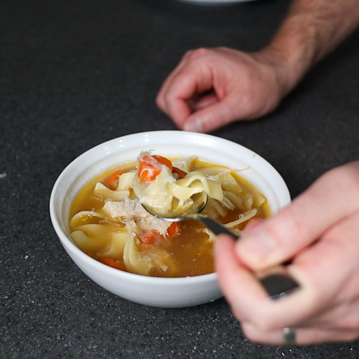 souped served in a bowl
