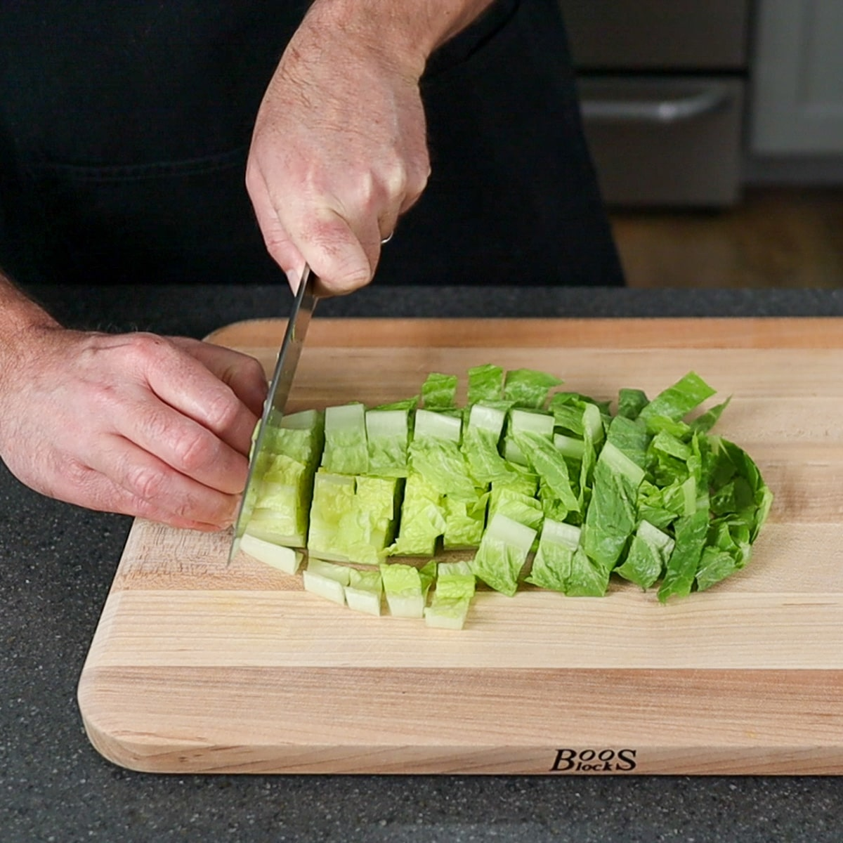 """chopping into 1"""" pieces"""