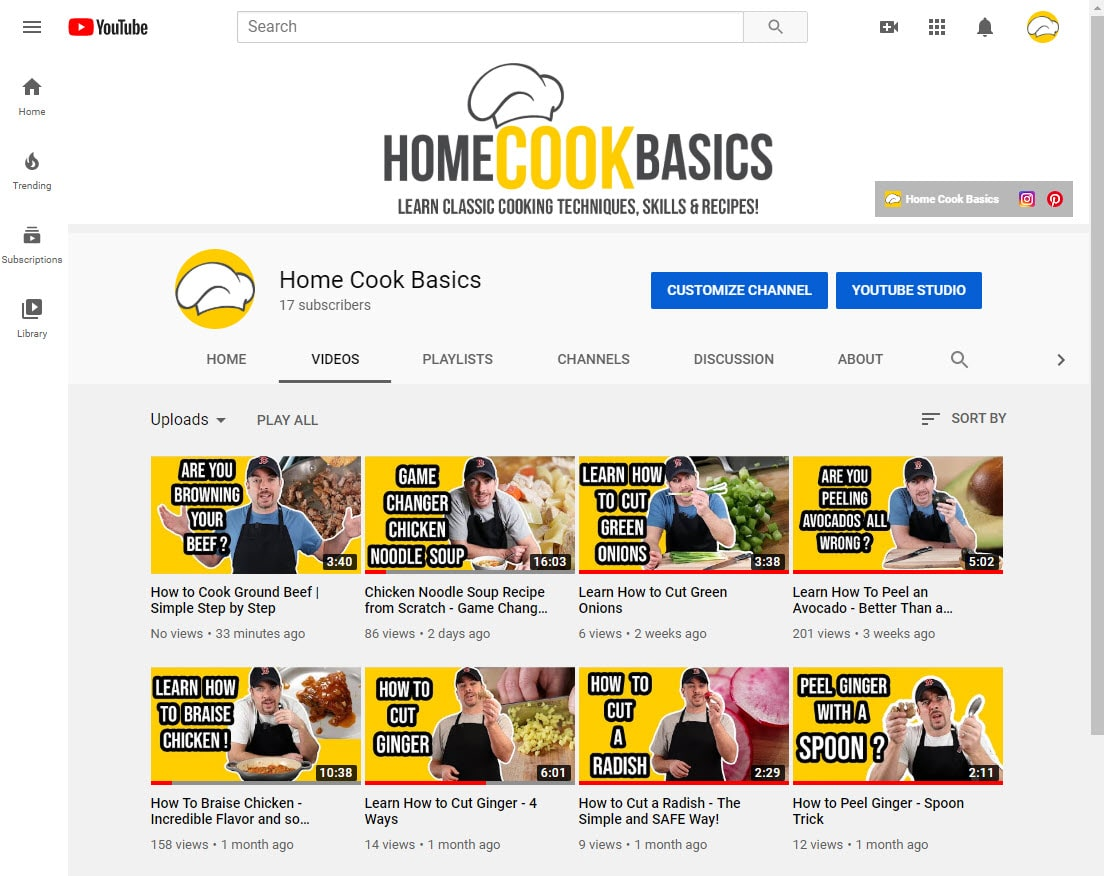 picture of home cook basics youtube channel