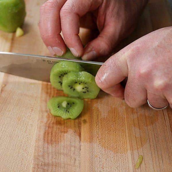 whole slices of kiwi