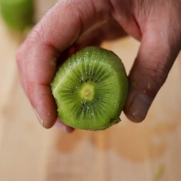 image of the stem in a kiwi
