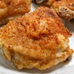 baked chicken thighs on a plate