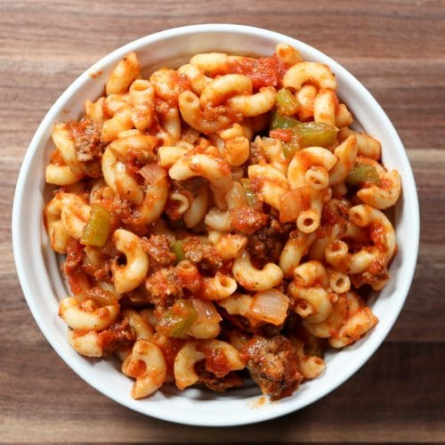 american chop suey in a bowl