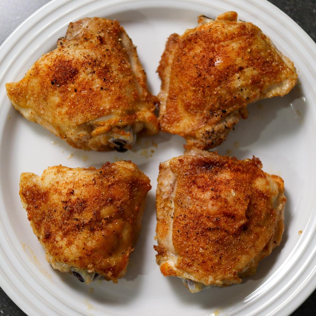 chicken thighs resting
