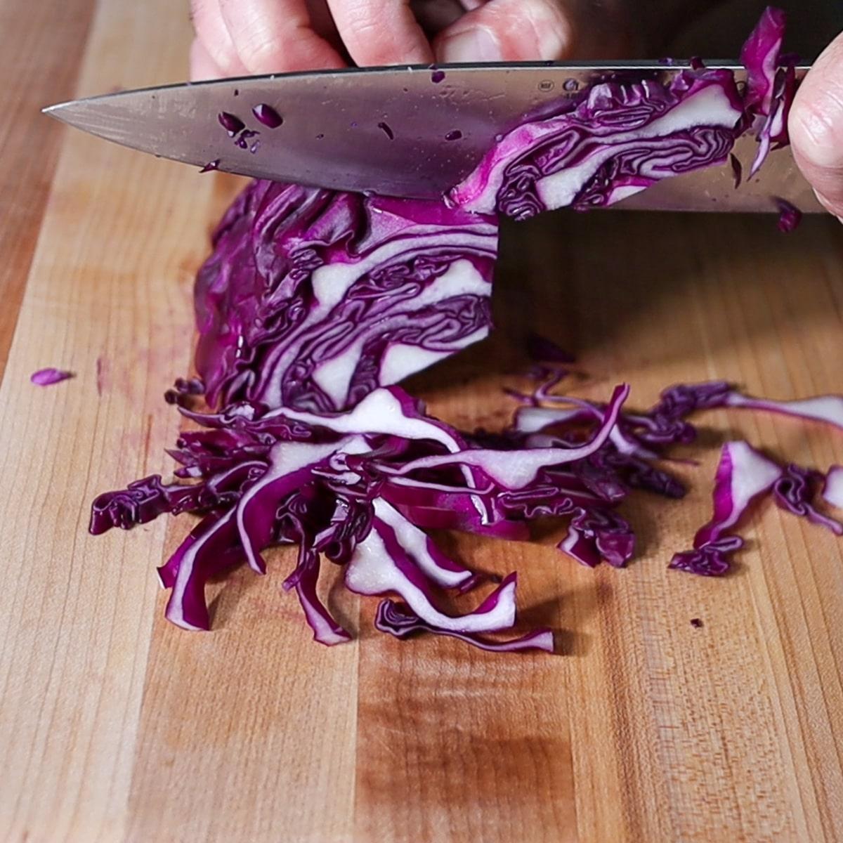 shredding with a knife