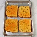 Texas Toast on a sheet pan