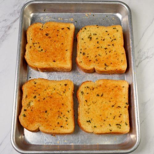 Texas Toast on a sheet pan
