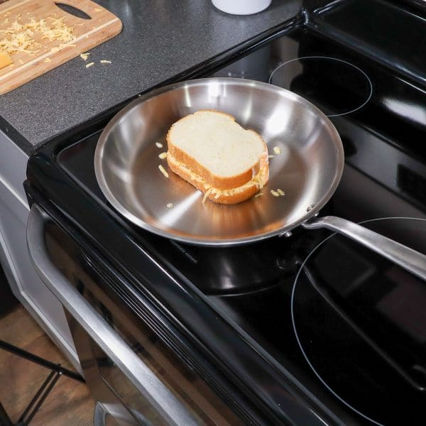 making a grilled cheese