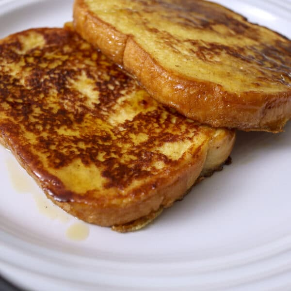 french toast for one on a plate