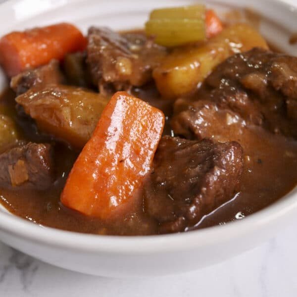 what to serve with beef stew image in a bowl