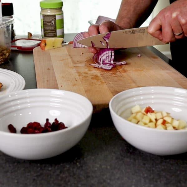 dicing onion