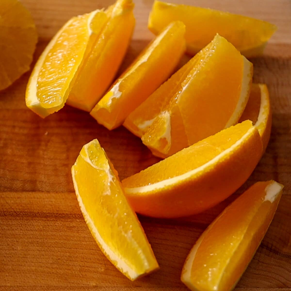 cut up oranges